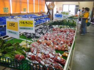地元生産農家の新鮮野菜がいっぱい