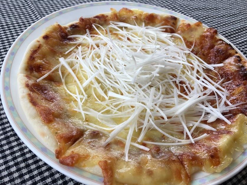 米粉のねぎピザ